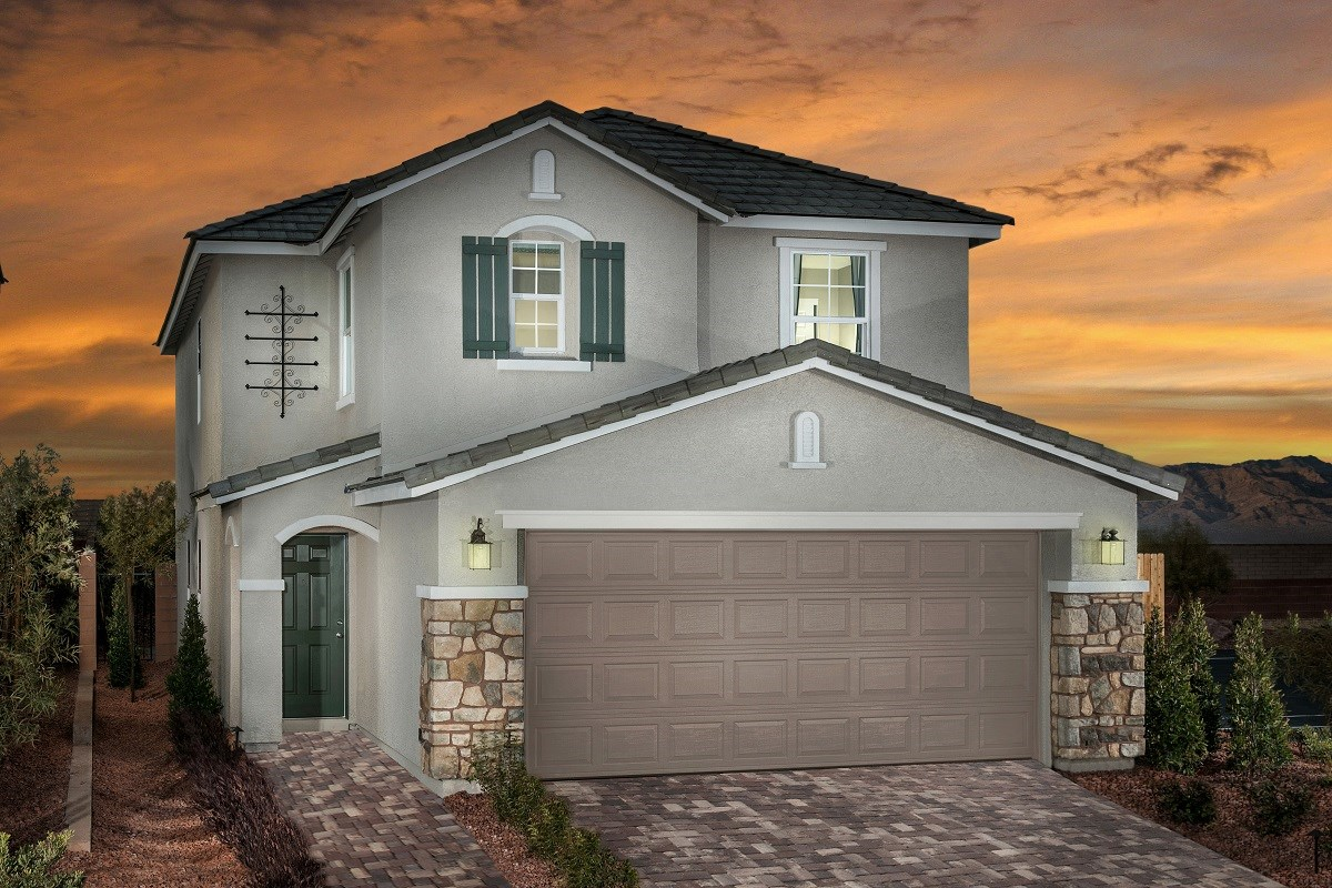 New Homes in Las Vegas, NV - Oxford Commons Plan 2115 Modeled