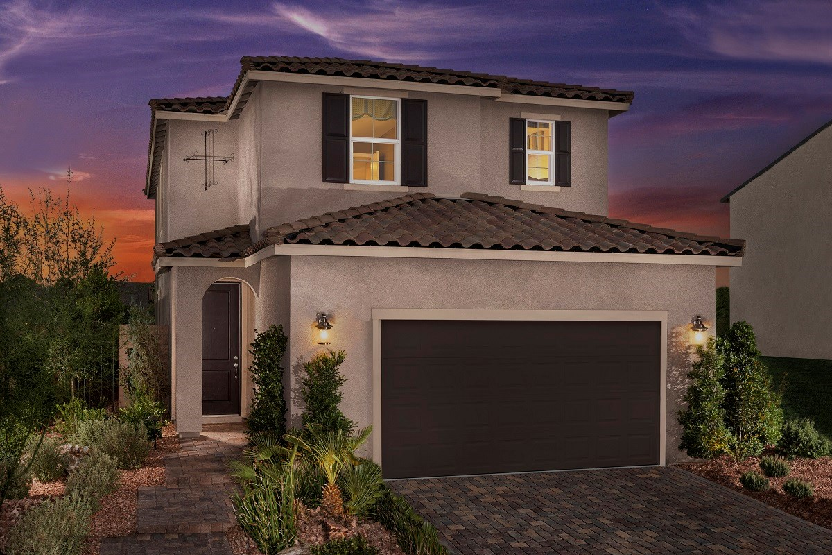 New Homes in Las Vegas, NV - Oxford Commons Plan 2115 as modeled at Pearl Creek