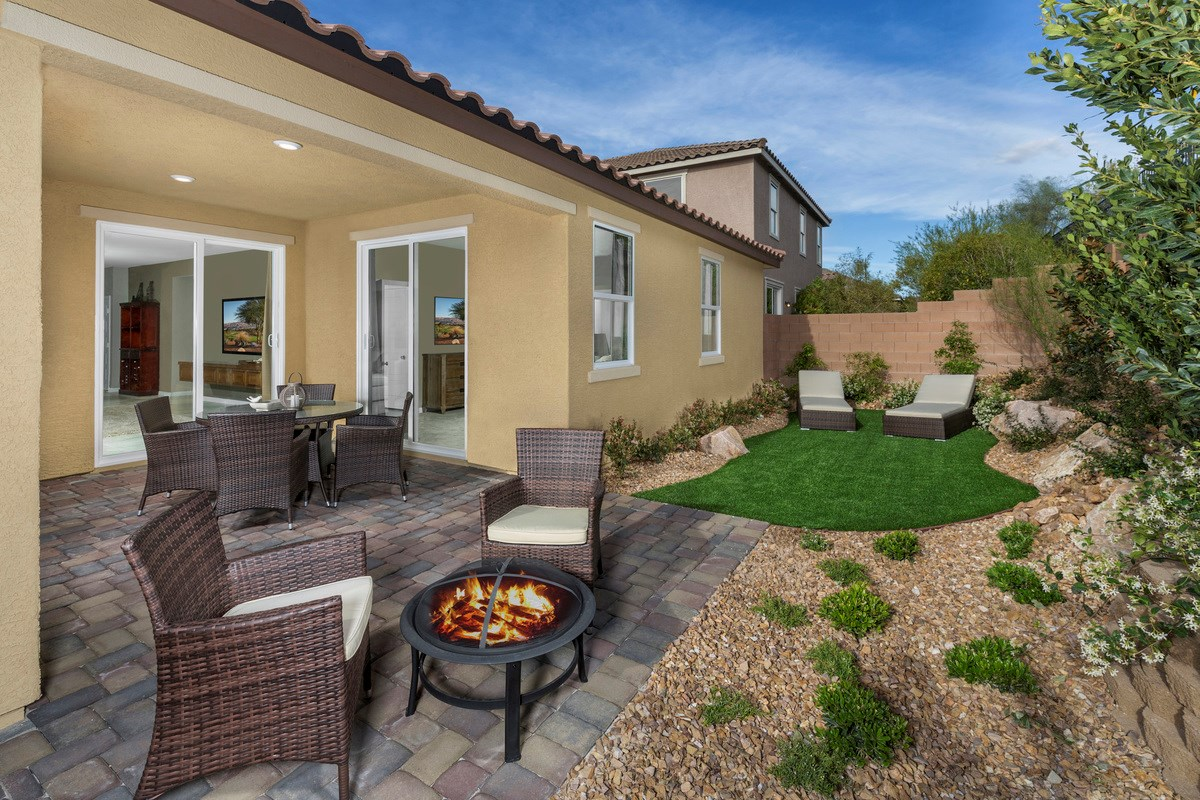 New Homes in Henderson, NV - Reserves at Inspirada Plan 1589 Backyard