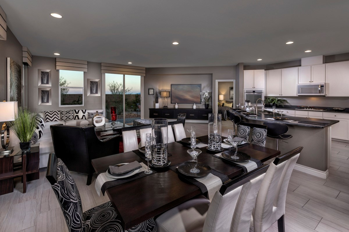 New Homes in Las Vegas, NV - Reserves at San Severo Plan 2568 as modeled as Plan 2619 Great Room