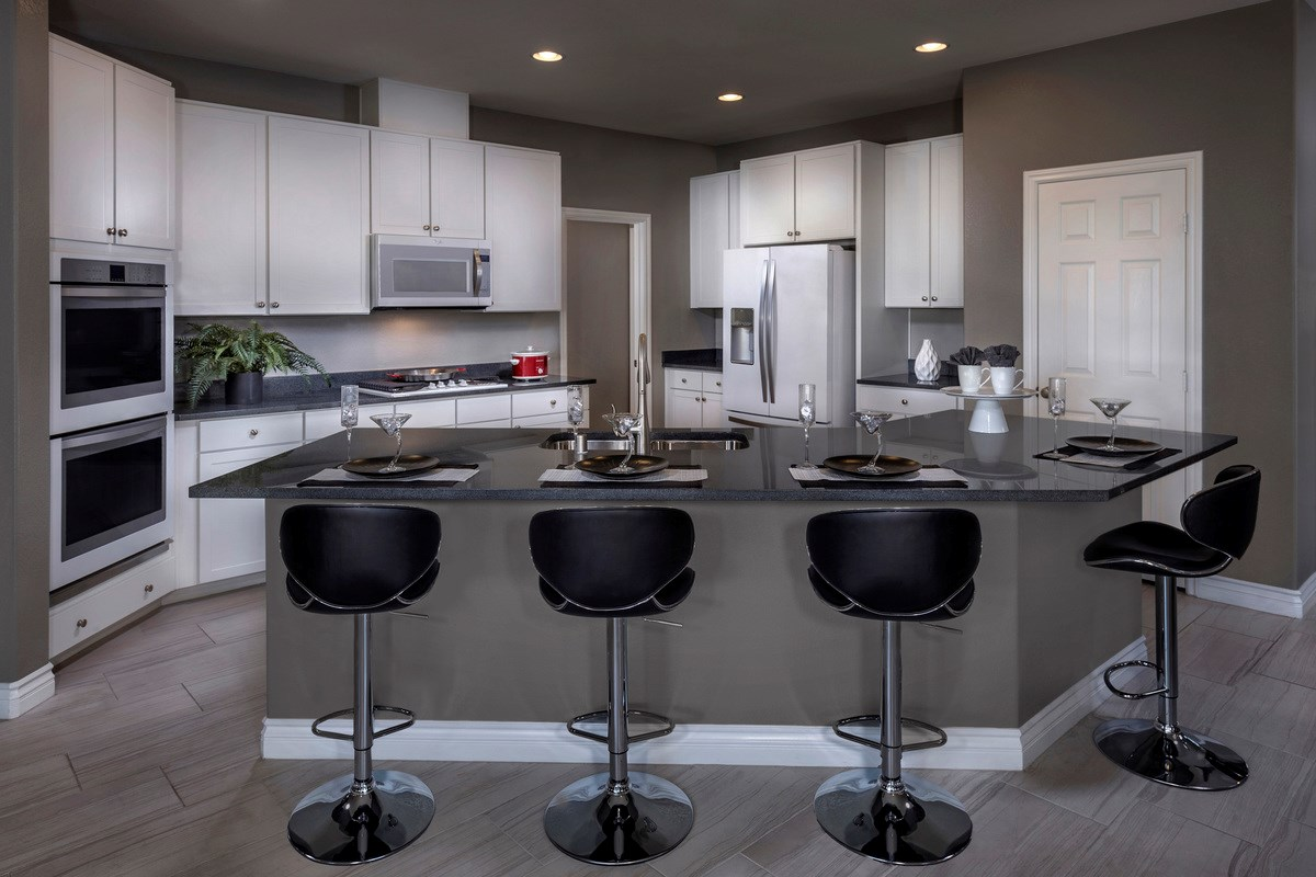 New Homes in Las Vegas, NV - Reserves at San Severo Plan 2568 as modeled as Plan 2619 Kitchen