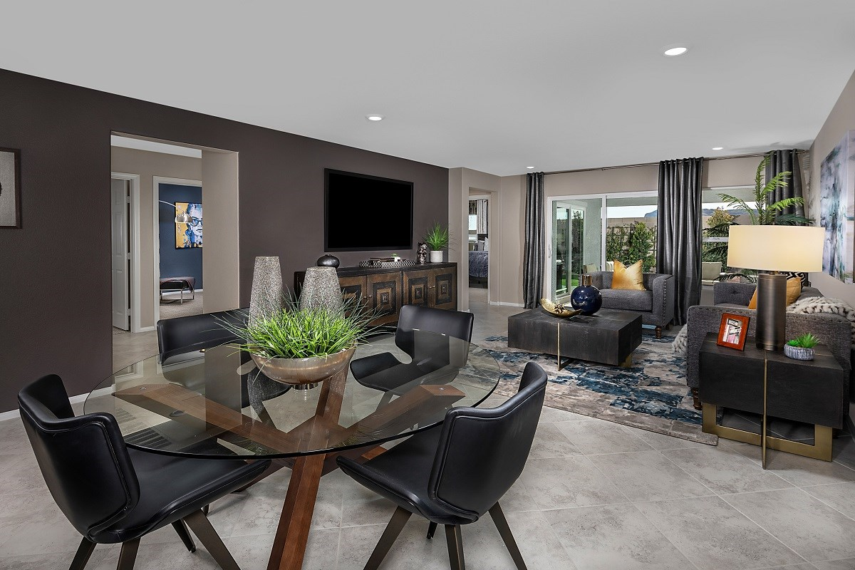 New Homes in Las Vegas, NV - Reserves at Serene Canyon Plan 1589 Great Room