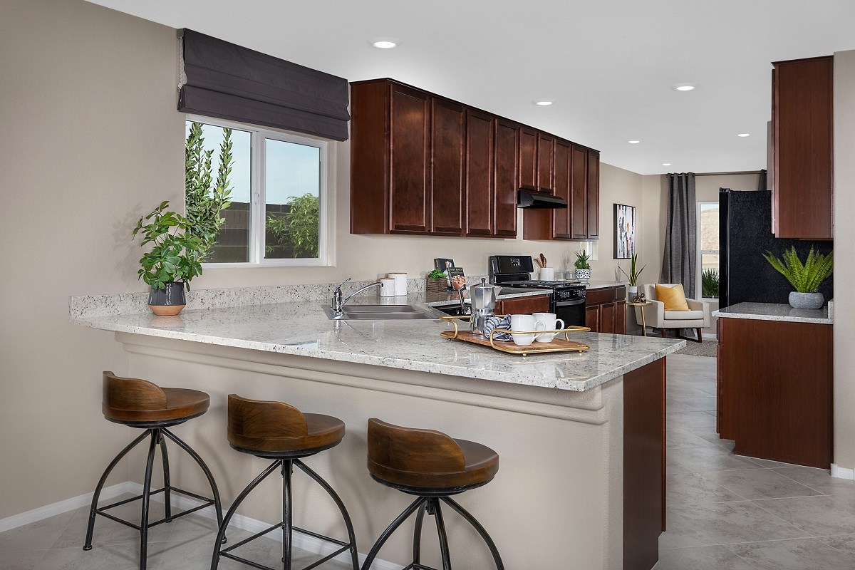 New Homes in Las Vegas, NV - Reserves at Serene Canyon Plan 1589 Kitchen
