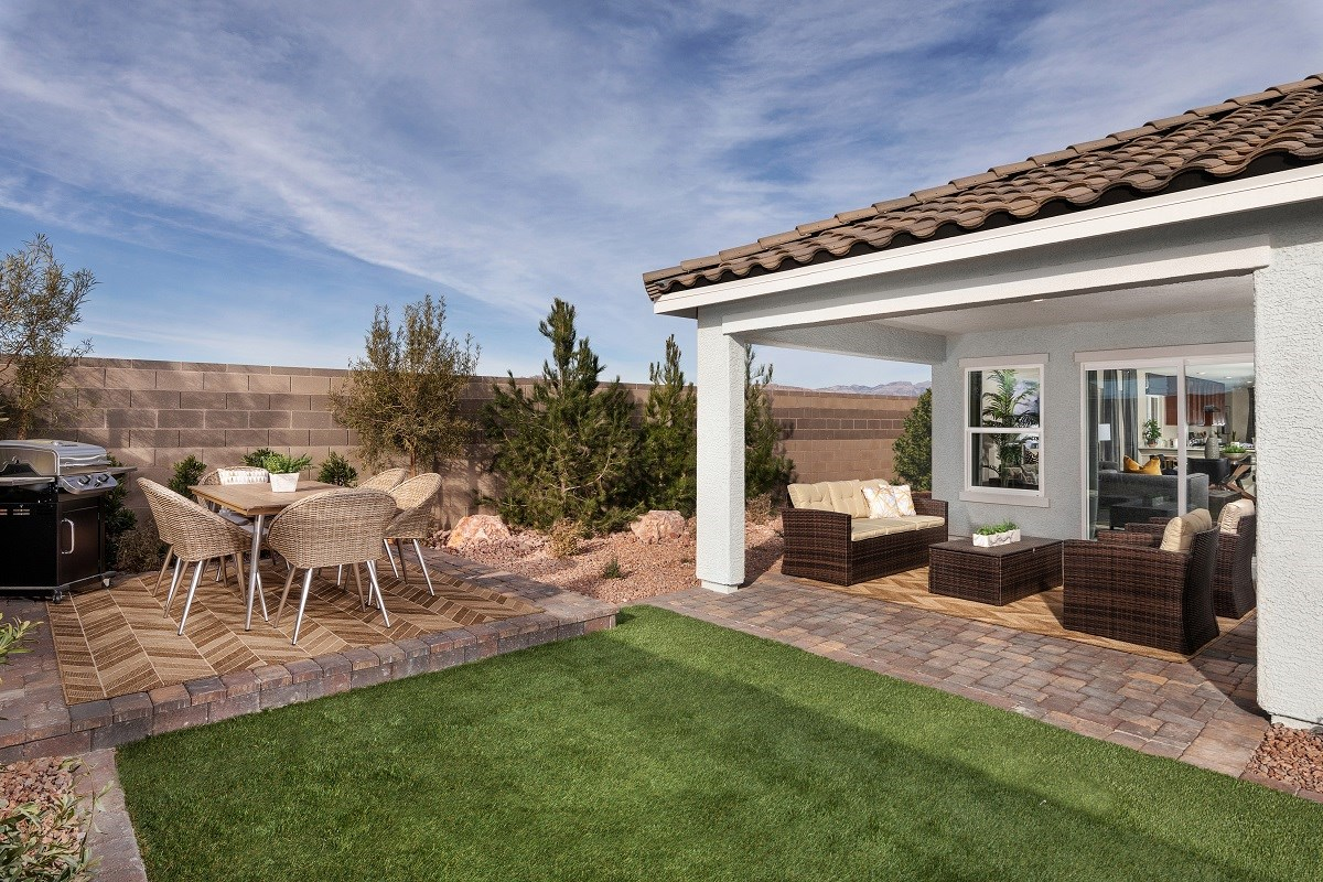New Homes in Las Vegas, NV - Reserves at Serene Canyon Plan 1589 Patio