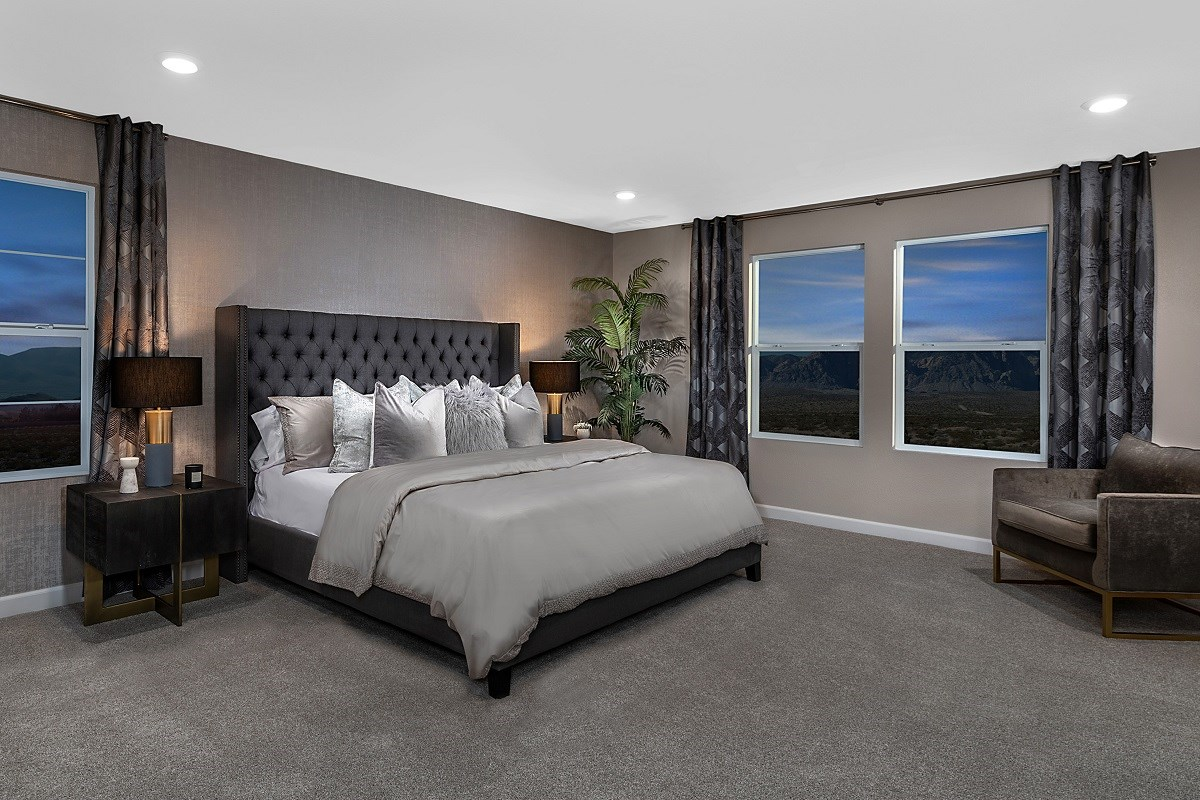 New Homes in Las Vegas, NV - Reserves at Serene Canyon Plan 2993 Master Bedroom 2