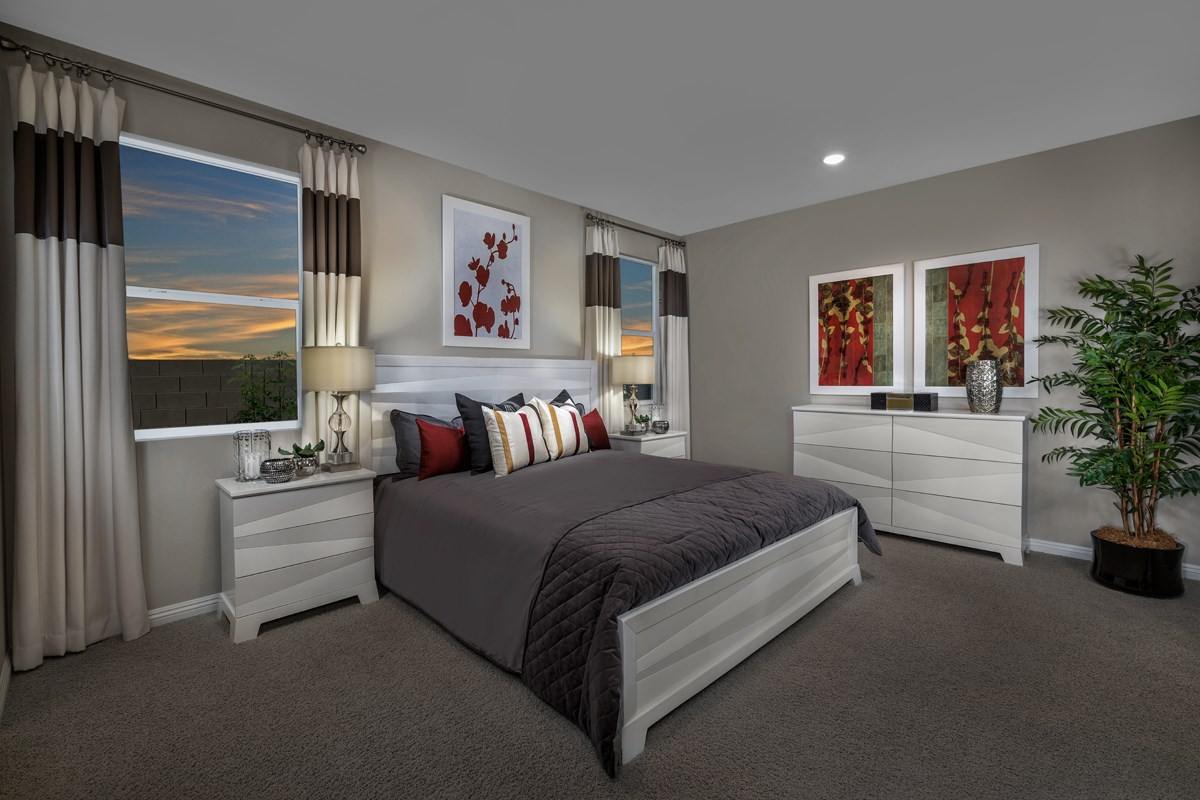 New Homes in North Las Vegas, NV - Reserves at Tanglewood Plan 1849 Master Bedroom