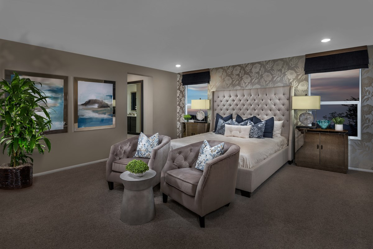 New Homes in North Las Vegas, NV - Reserves at Tanglewood Plan 3059 Master Bedroom