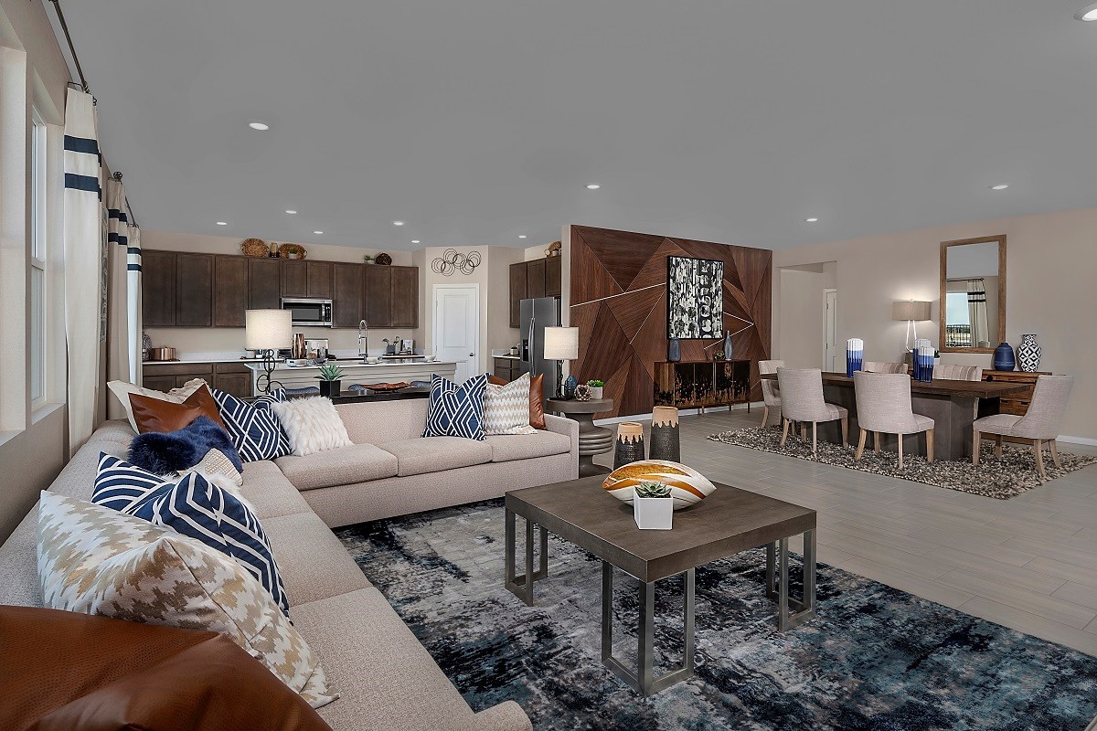 New Homes in North Las Vegas, NV - Reserves at Saddlebrook Plan 3059 Great Room