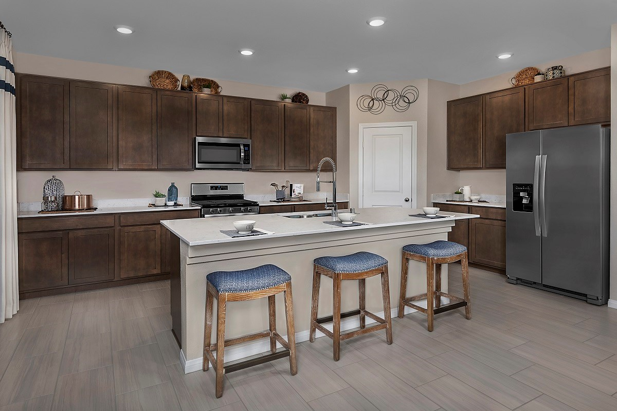 New Homes in North Las Vegas, NV - Reserves at Saddlebrook Plan 3059 Kitchen