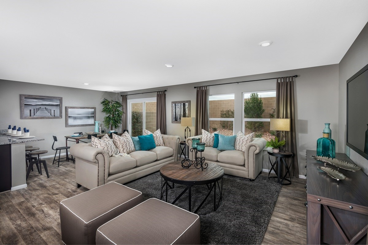 New Homes in Las Vegas, NV - Serene Canyon Plan 1657 Great Room