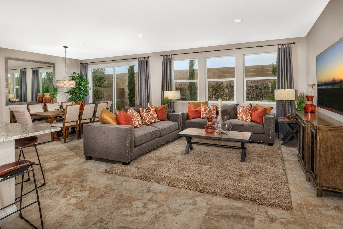 New Homes in Las Vegas, NV - Serene Canyon Plan 2469 Great Room