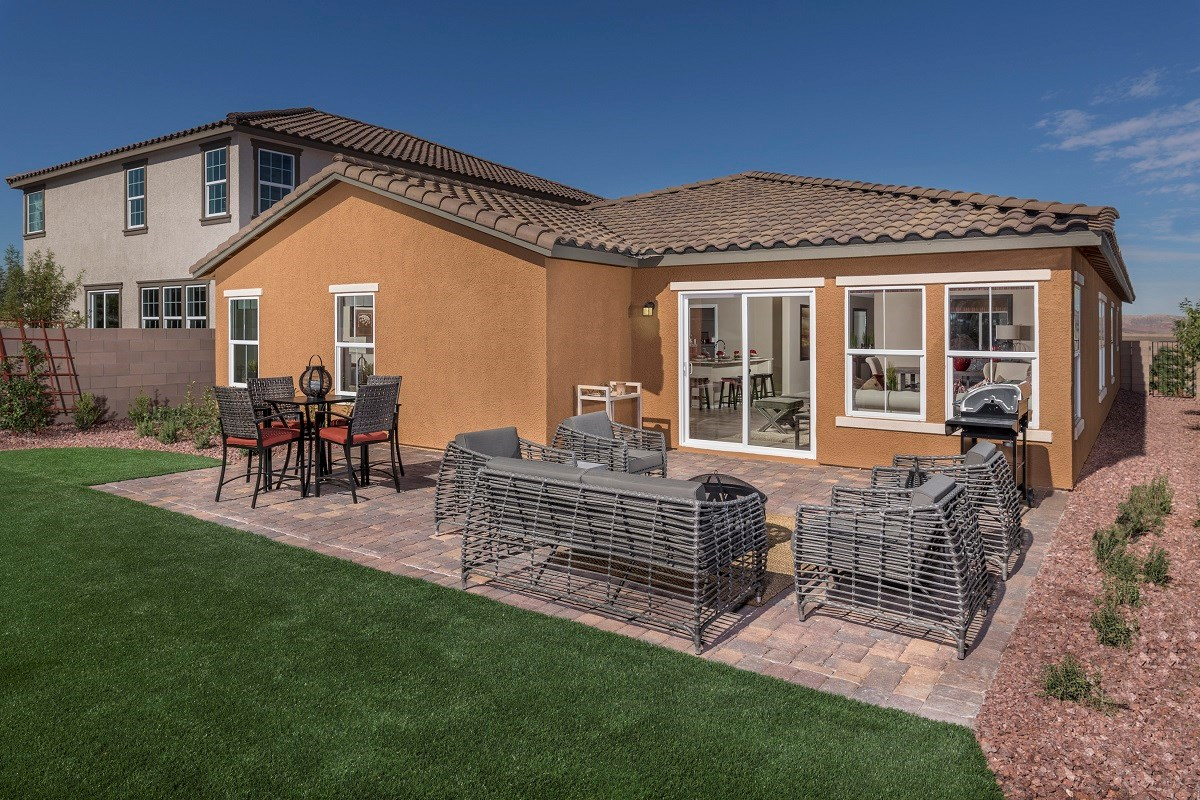 New Homes in Henderson, NV - Talesera Hills Plan 2035 Backyard