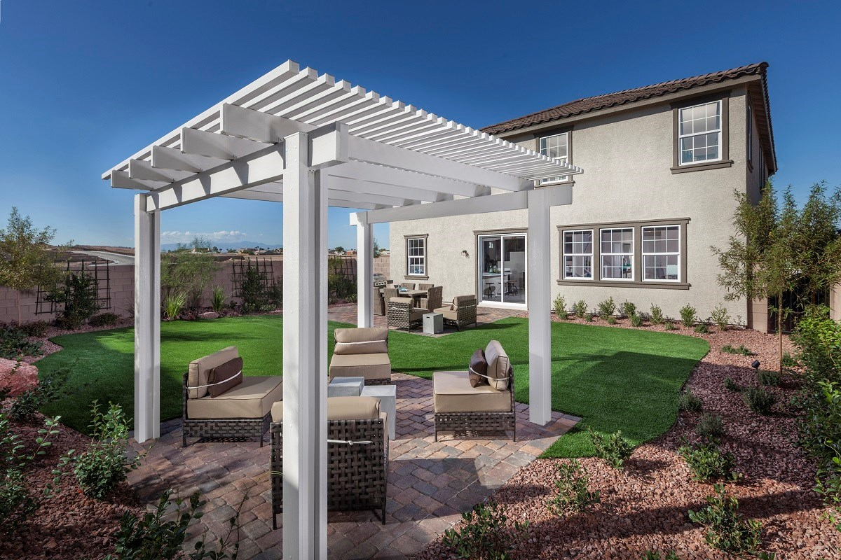 New Homes in Henderson, NV - Talesera Hills Plan 3195 Backyard