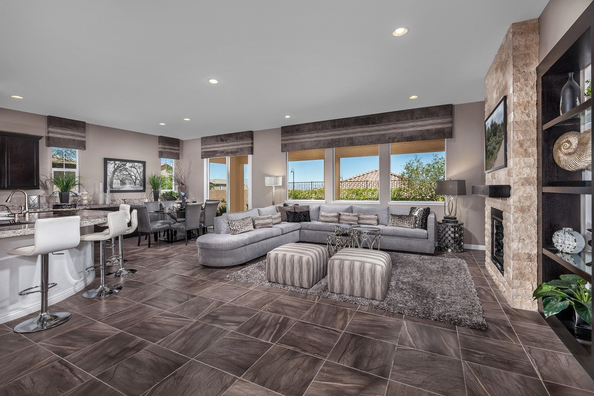 New Homes in Henderson, NV - Terraces at Inspirada Plan 2826 Great Room