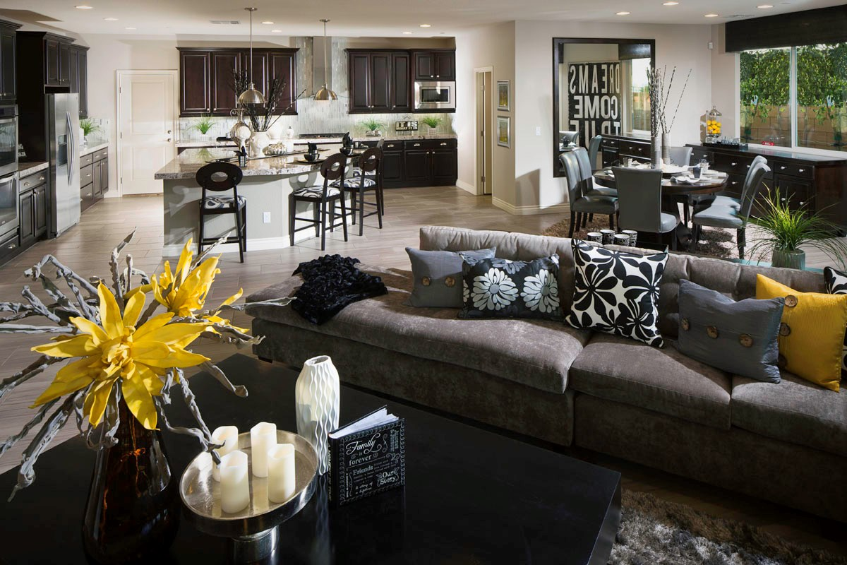 New Homes in Henderson, NV - Terraces at Inspirada 4343 Great Room and Kitchen