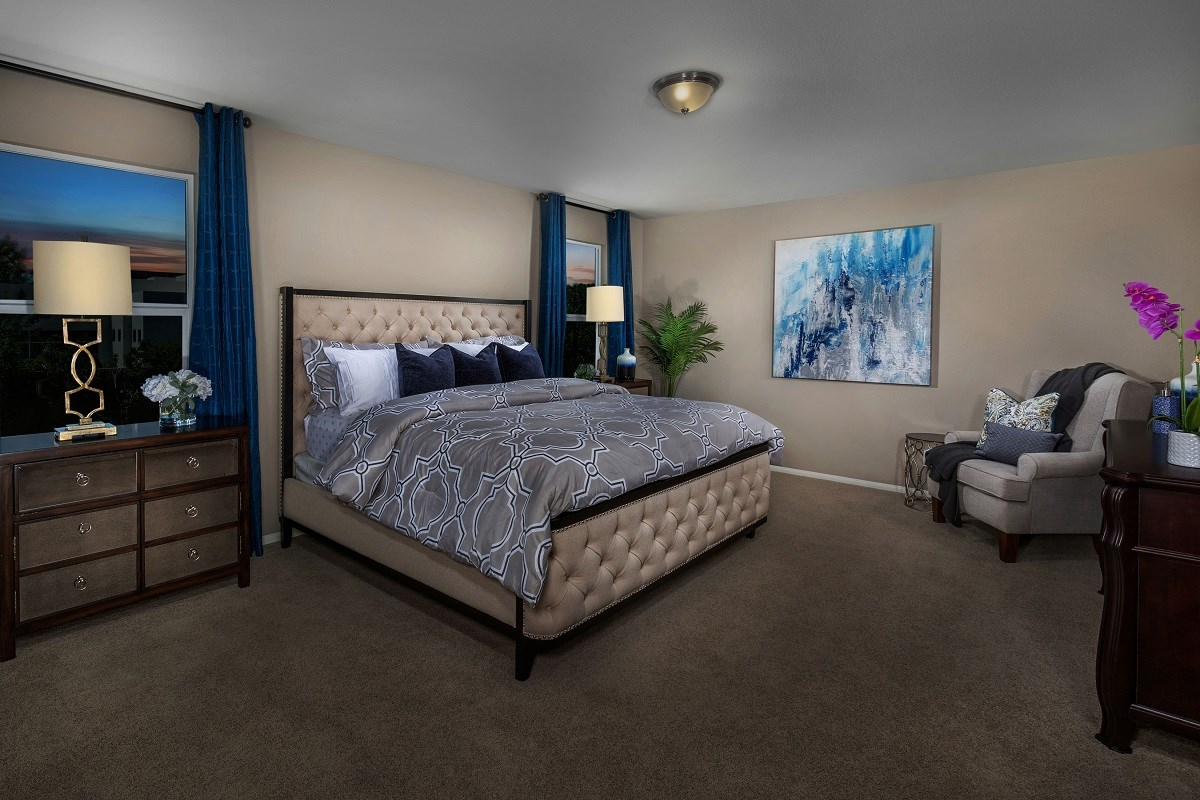 New Homes in Las Vegas, NV - Watercrest Plan 2057 Master Bedroom