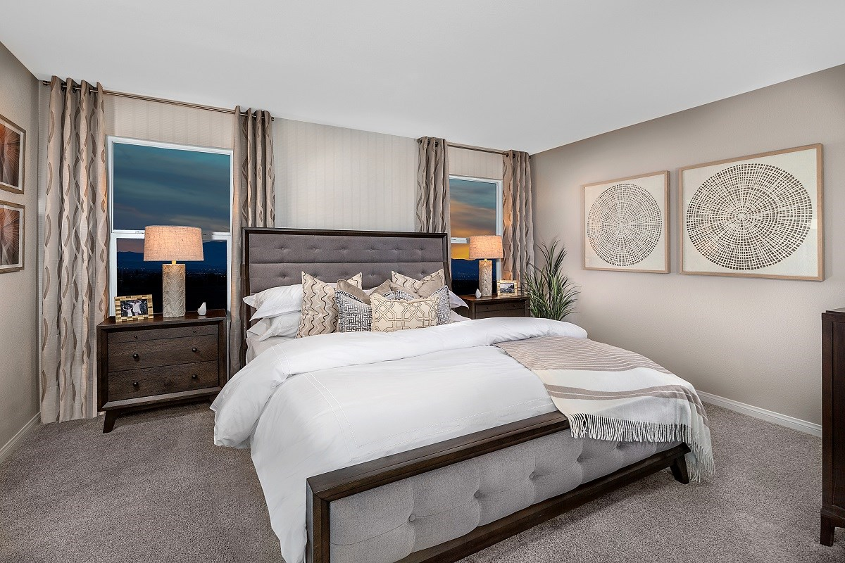 New Homes in Las Vegas, NV - Woodbury Plan 1769 Master Bedroom