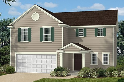 New Homes in Clayton, NC - Elevation A