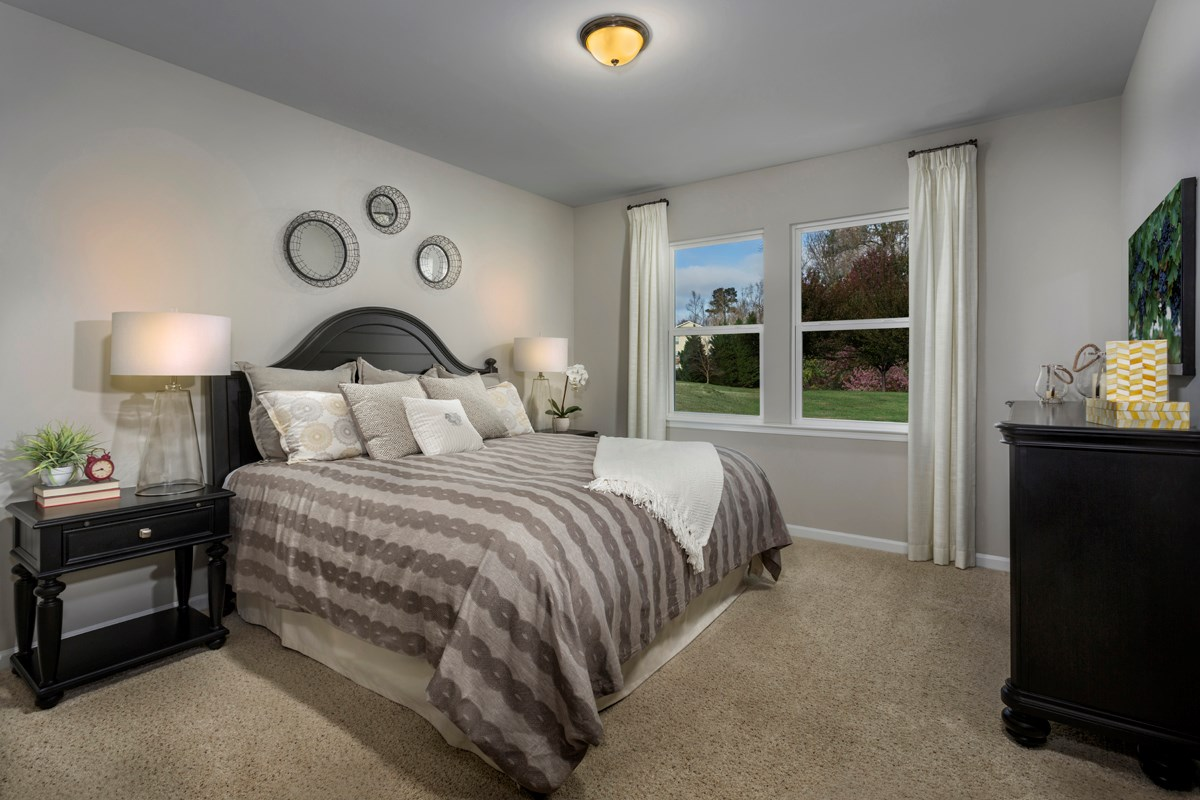 New Homes in Clayton, NC - Creekside Commons The Robinson - Master Bedroom