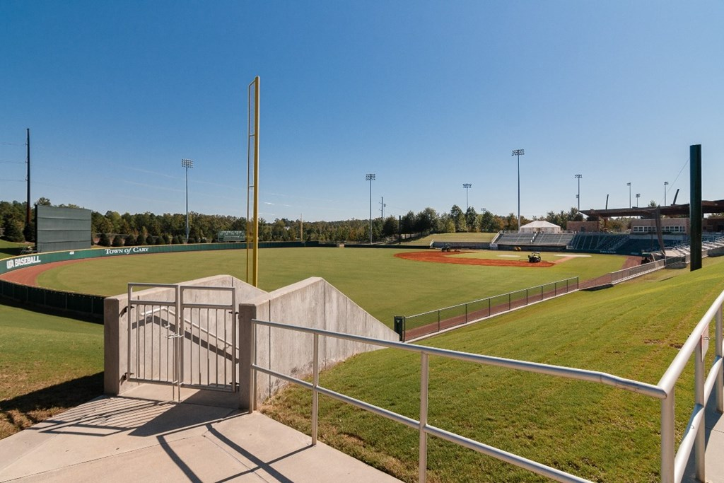 Amenity baseball field at a KB Home community in Cary, NC