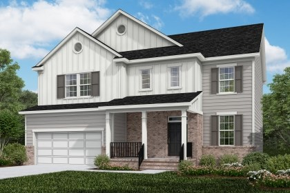 New Homes in Cary, NC - The Pembroke Elevation X