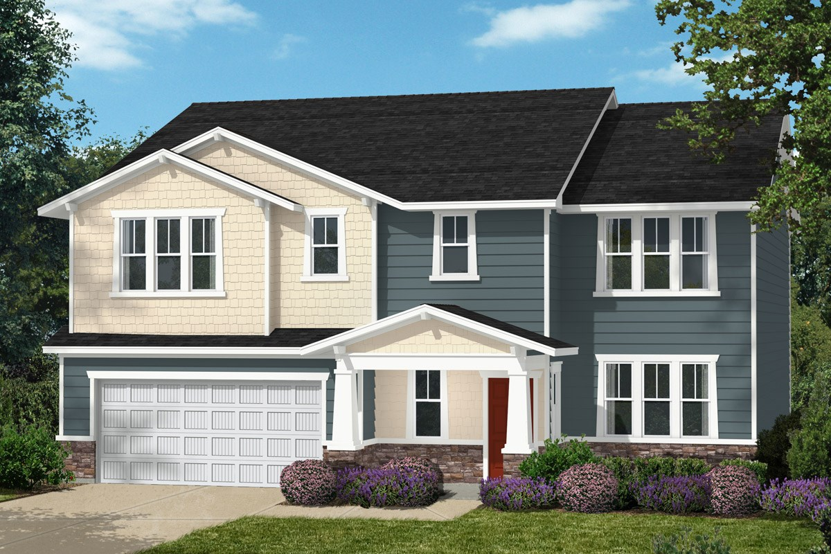 New Homes in Cary, NC - Darlington Woods Plan 3338 Elevation H