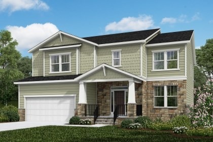 New Homes in Cary, NC - The Rockingham Elevation Y