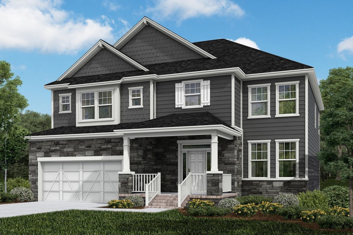 New Homes in Apex, NC - Darlington Woods Plan 3366 Elevation Z