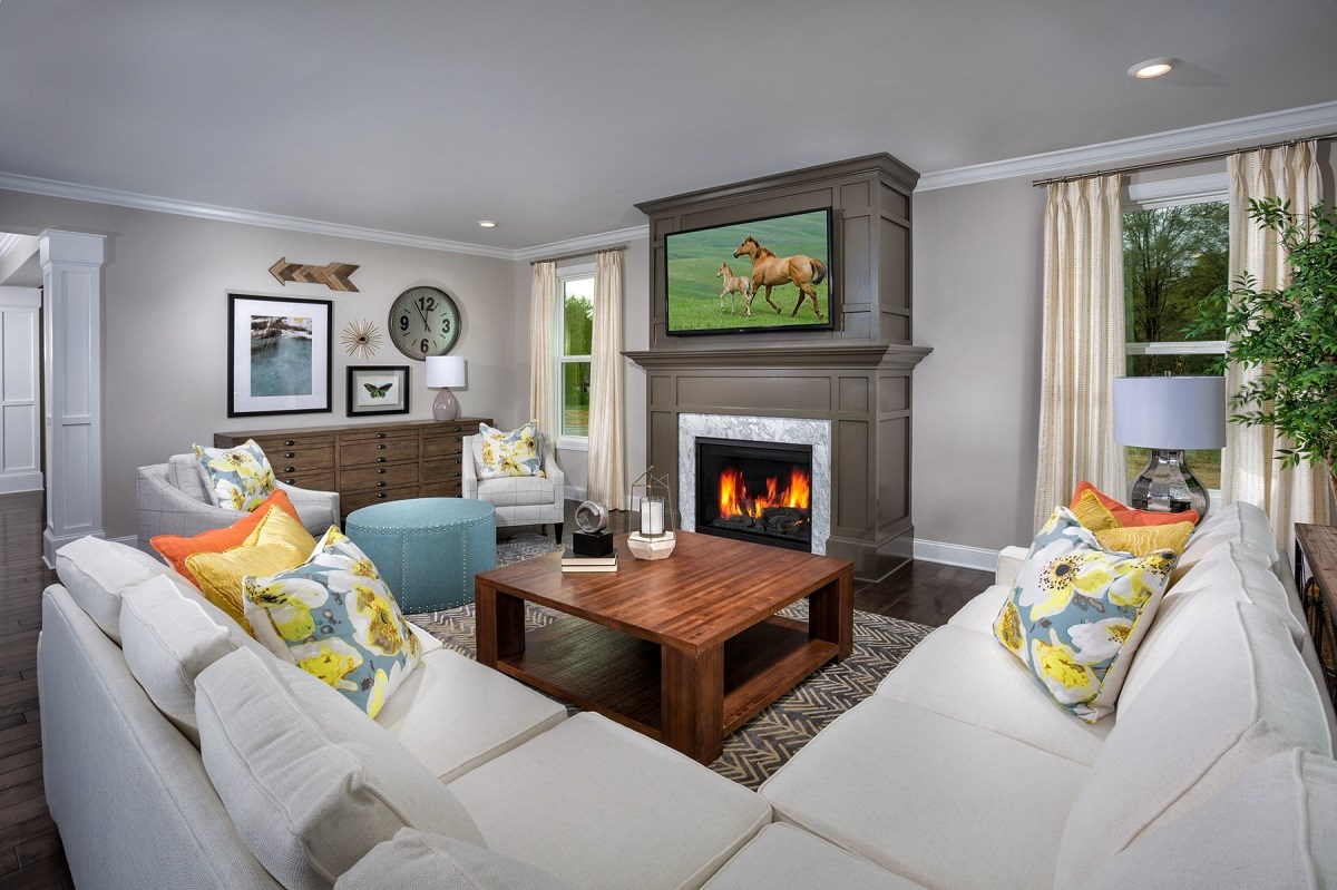New Homes in Cary, NC - Darlington Woods The Rockingham Family Room
