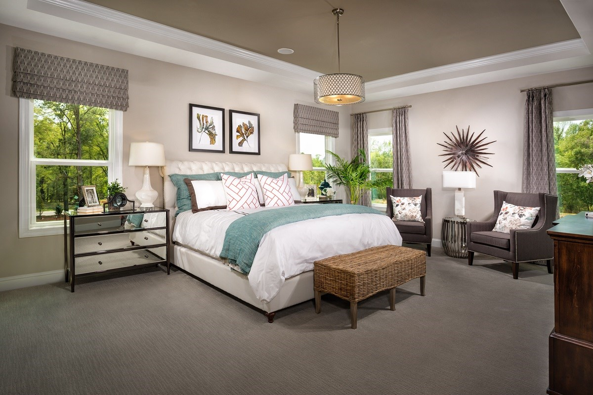 New Homes in Apex, NC - Darlington Woods The Rockingham Master Bedroom