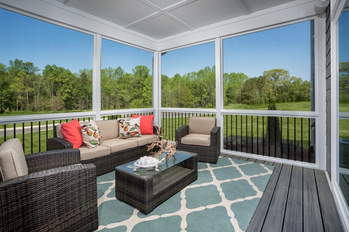 New Homes in Apex, NC - Darlington Woods The Rockingham Patio