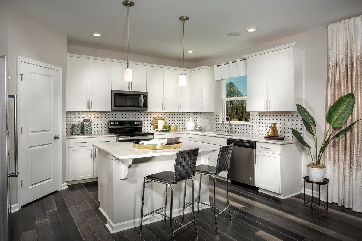New Homes in Fuquay-Varina, NC - Mason Pointe The Coltrane II Kitchen