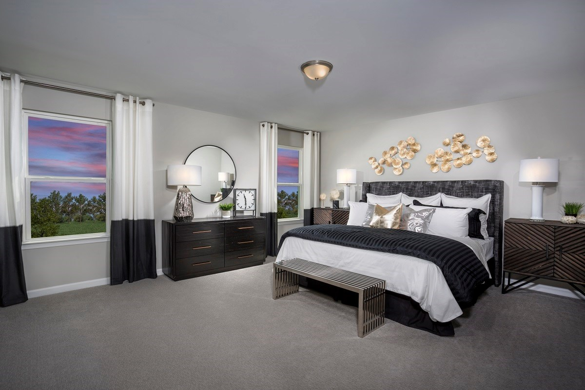 New Homes in Fuquay-Varina, NC - Mason Pointe The Coltrane II Master Bedroom
