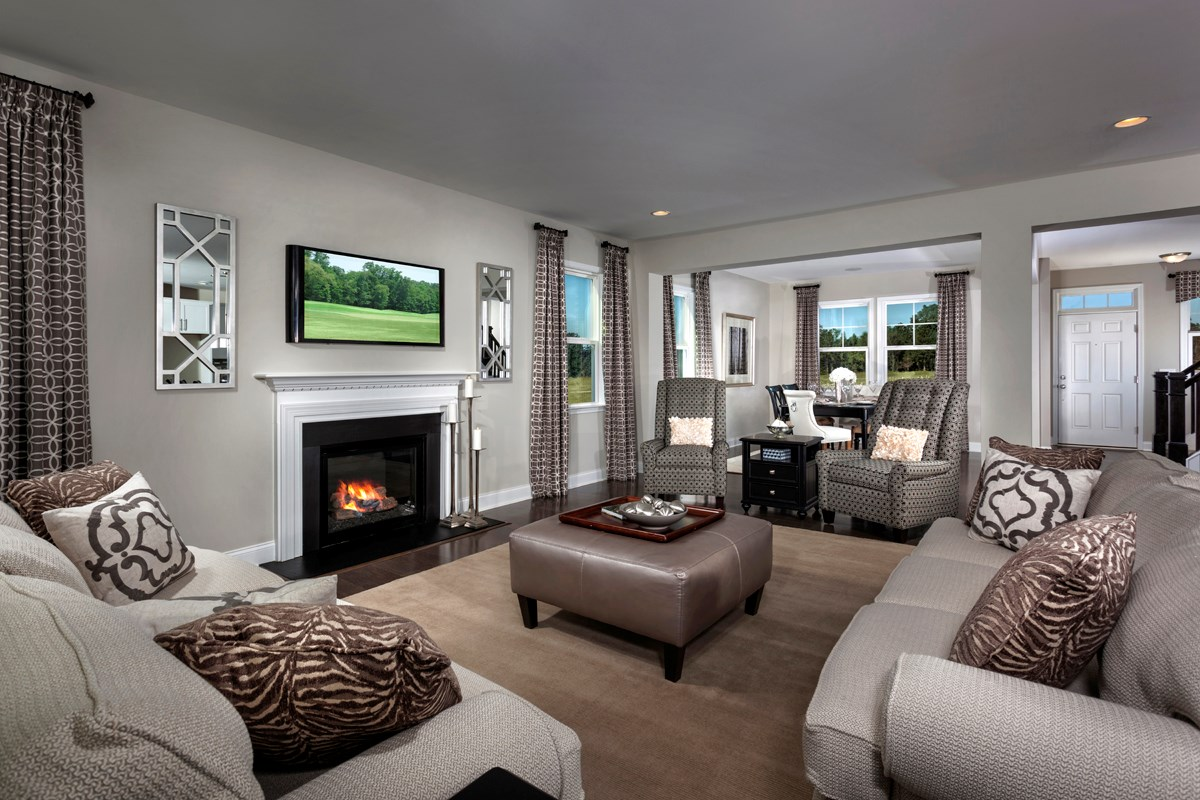 New Homes in Holly Springs, NC - Parks at Bass Lake The Fairview - Great Room