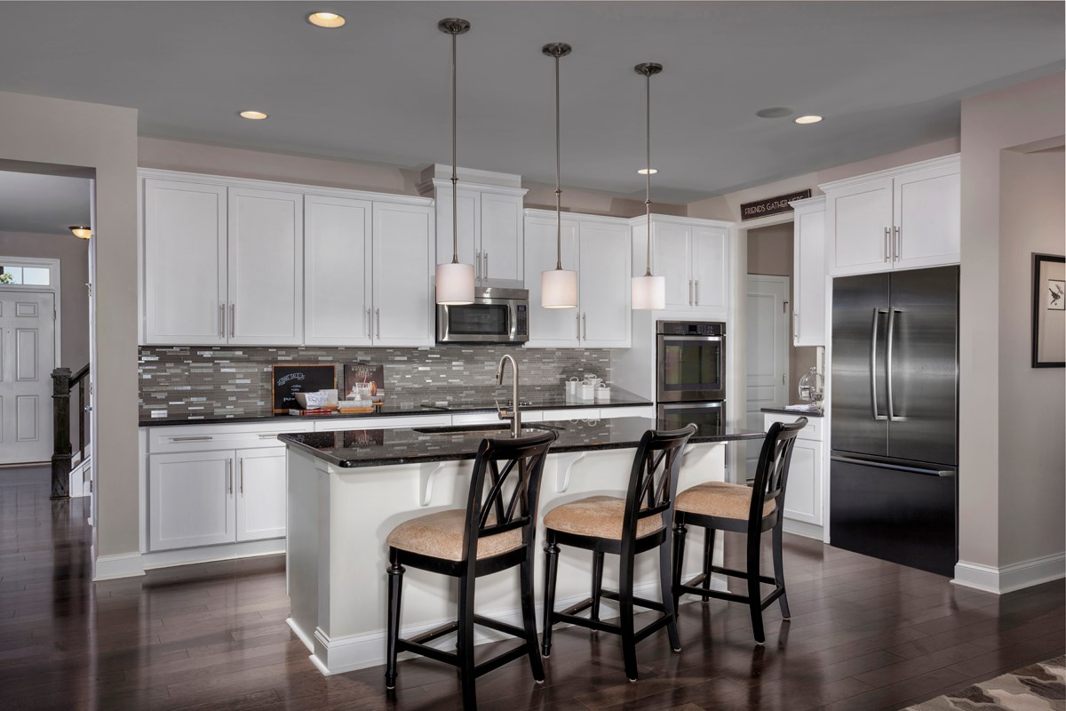 New Homes in Holly Springs, NC - Parks at Bass Lake The Fairview - Kitchen