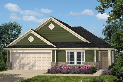 New Homes in Holly Springs, NC - Elevation A