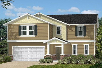 New Homes in Holly Springs, NC - Elevation H