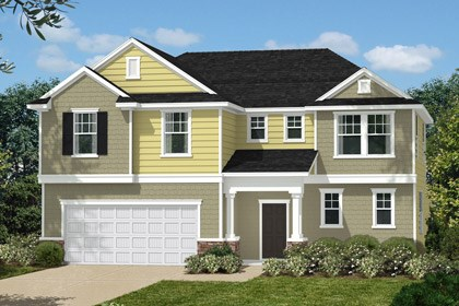 New Homes in Holly Springs, NC - Elevation J