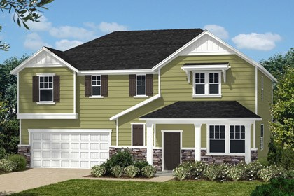 New Homes in Holly Springs, NC - Elevation I