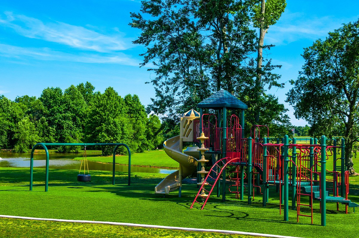 New Homes in Holly Springs, NC - Parks at Bass Lake Parrish Womble Park - Playground