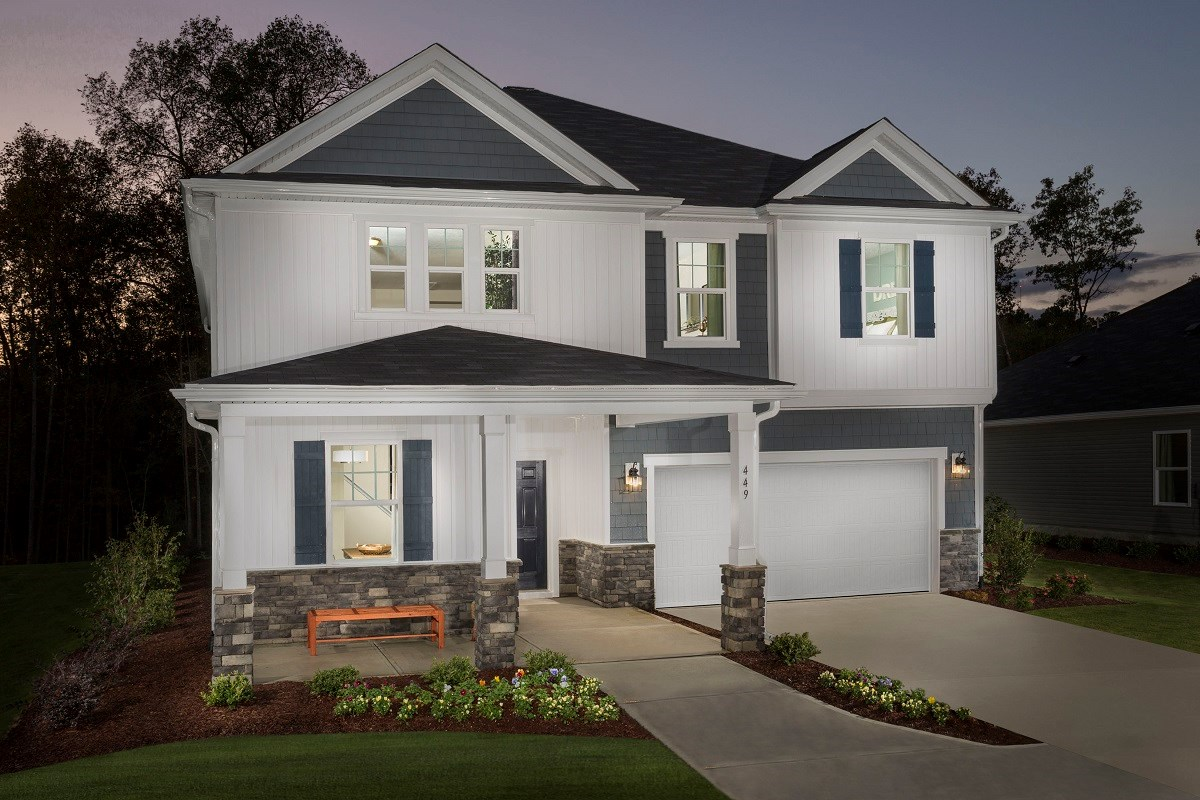 New Homes in Fuquay-Varina, NC - Mason Pointe The Coltrane II as modeled at Partin Place