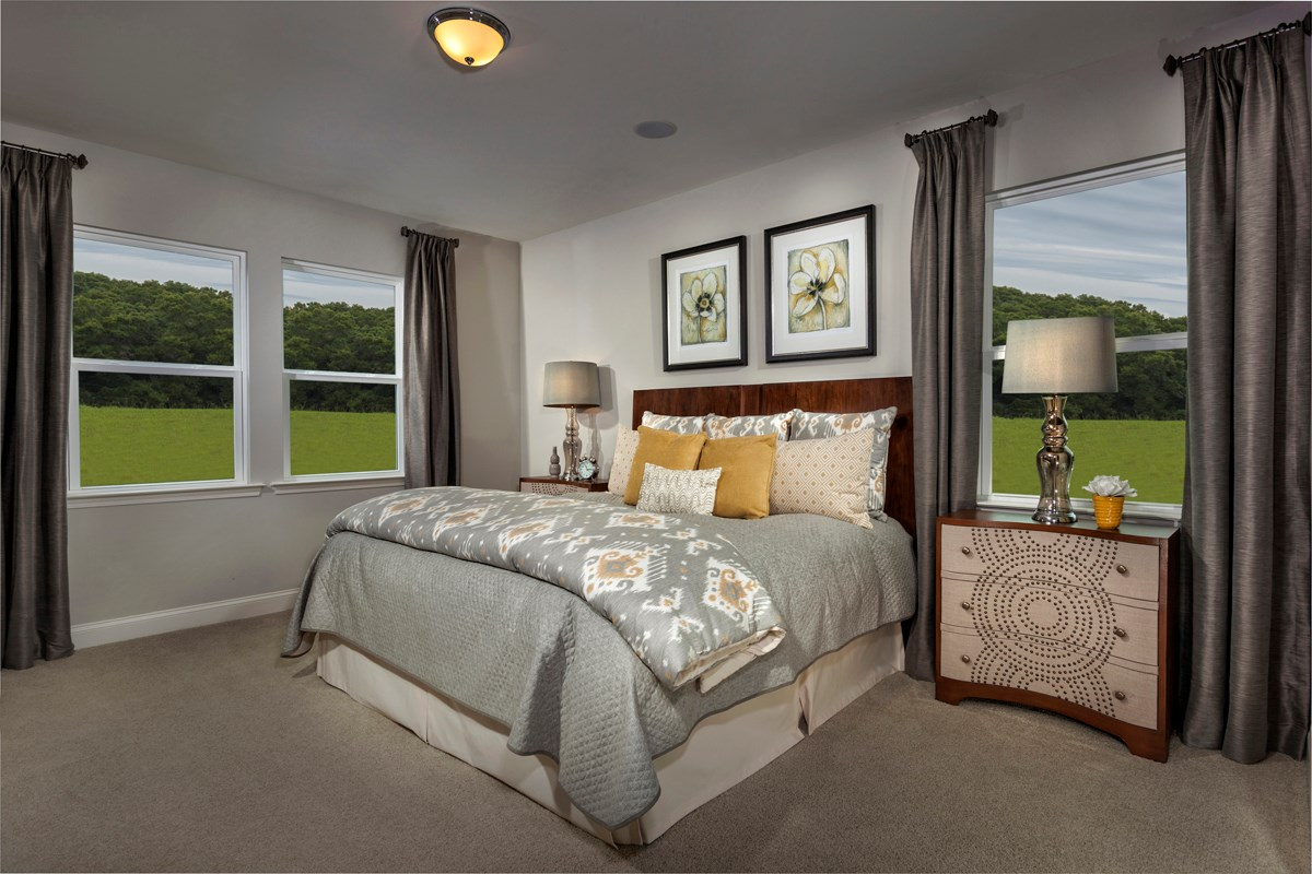 New Homes in Fuquay-Varina, NC - Partin Place The Griffith - Master Bedroom
