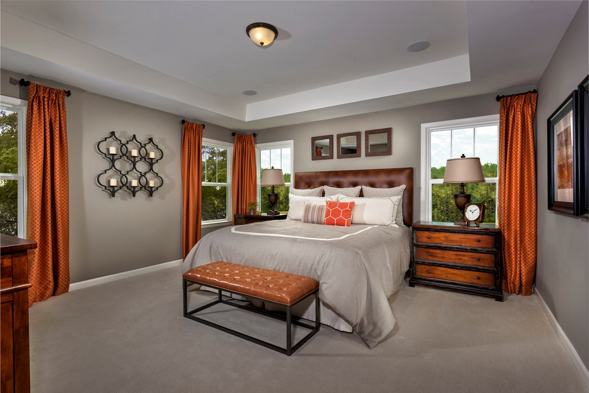 New Homes in Fuquay-Varina, NC - Partin Place The Brinkley - Master Suite