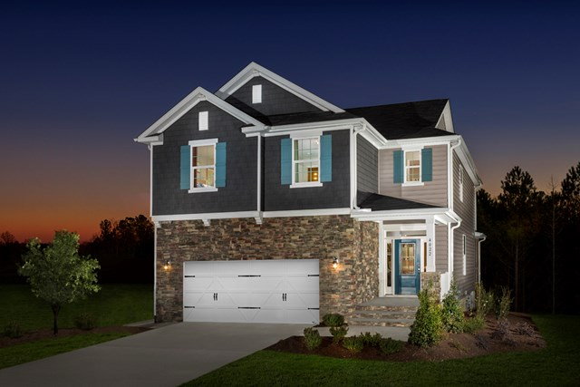 KB model home in Apex, NC