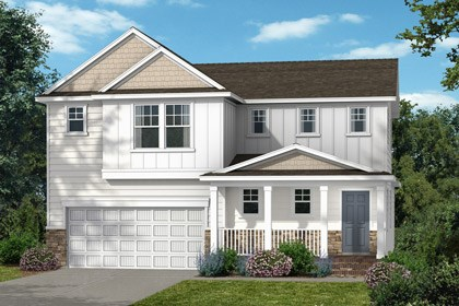 New Homes in Wake Forest, NC - Elevation D