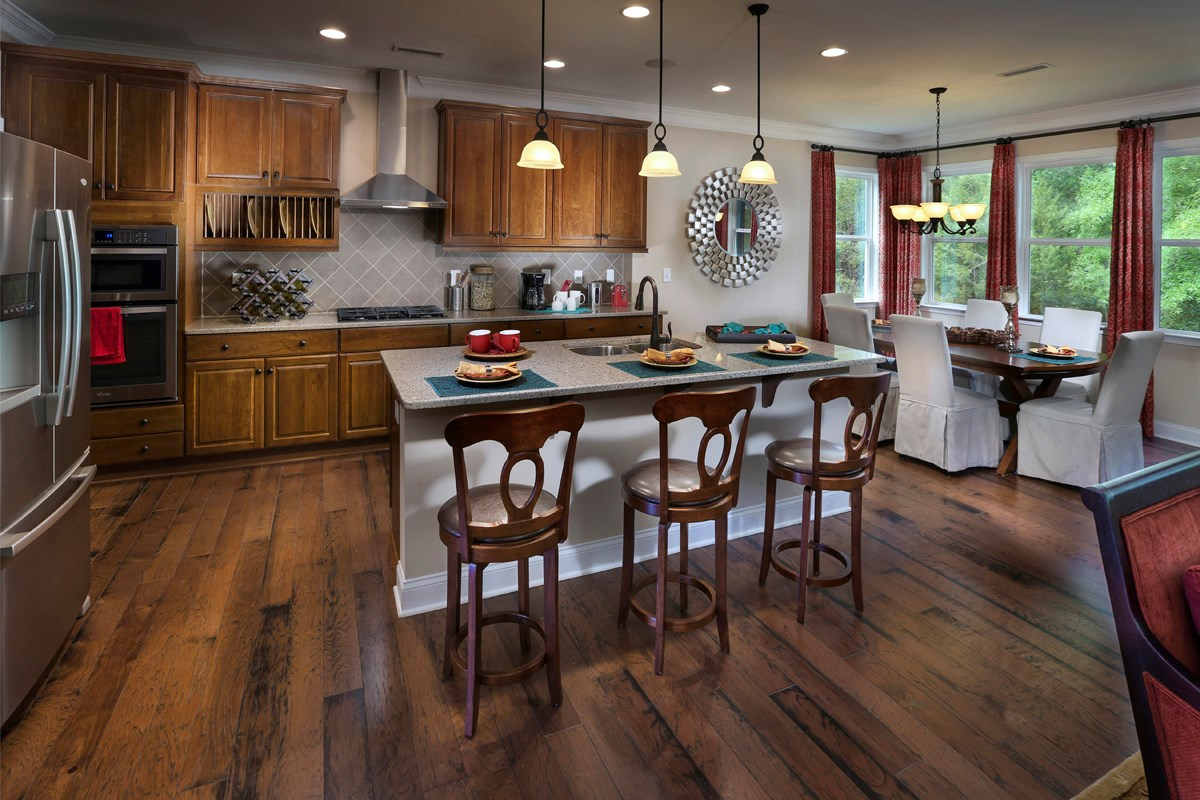 New Homes in Wake Forest, NC - The Meadows The Kuralt Kitchen