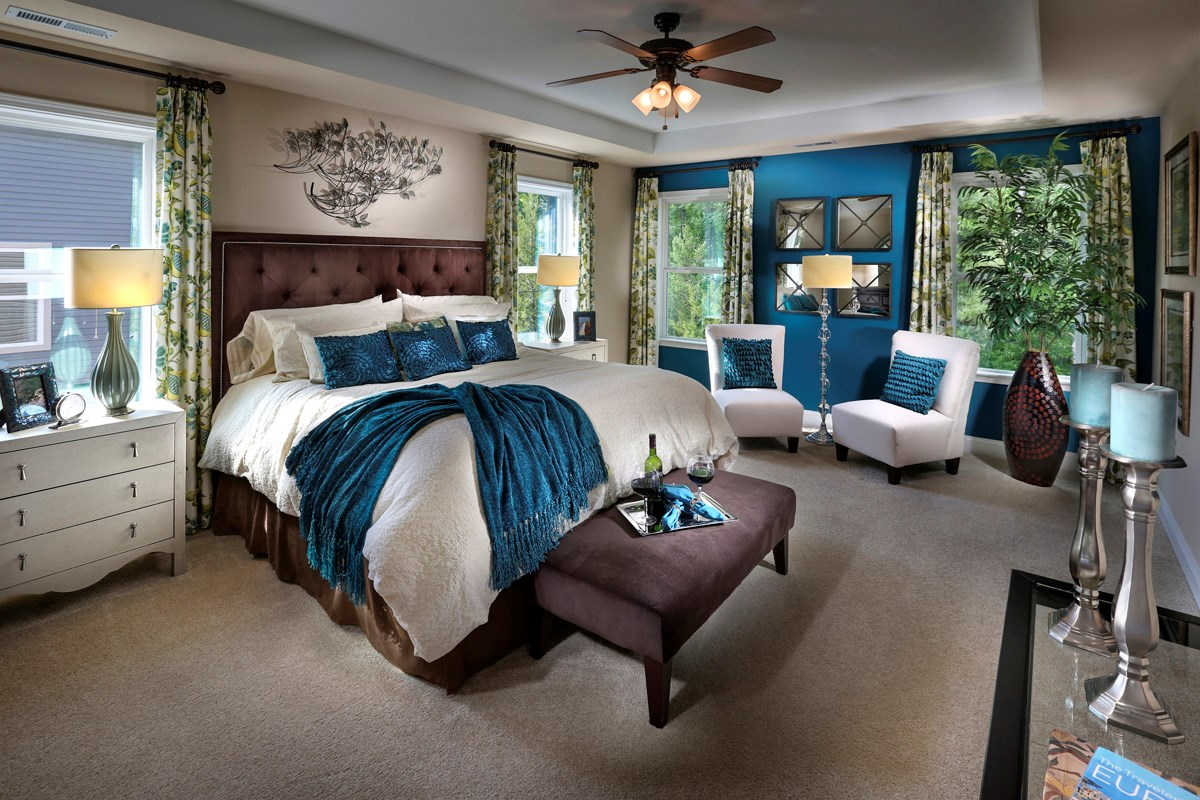 New Homes in Wake Forest, NC - The Meadows The Kuralt Master Bedroom