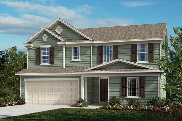 New Homes in Fuquay-Varina, NC - The Morgan Elevation A