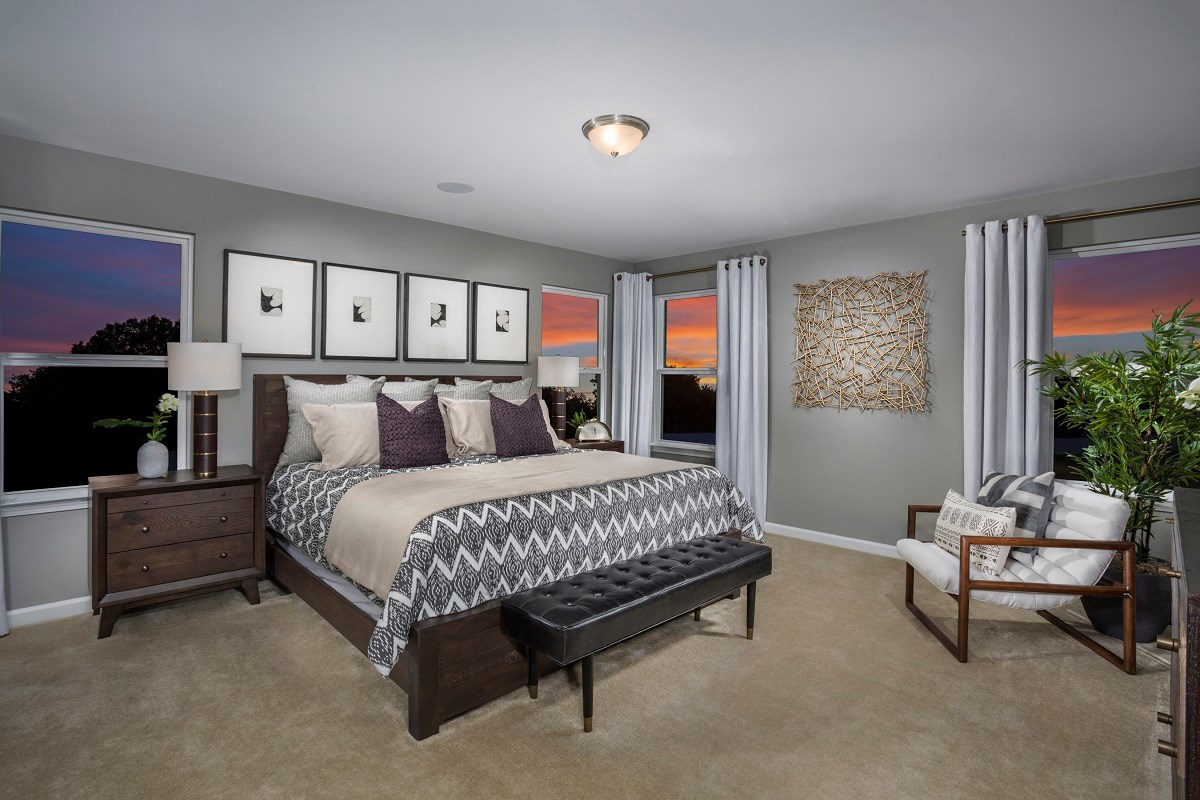 New Homes in Fuquay-Varina, NC - Union Station The Coltrane II Master Bedroom