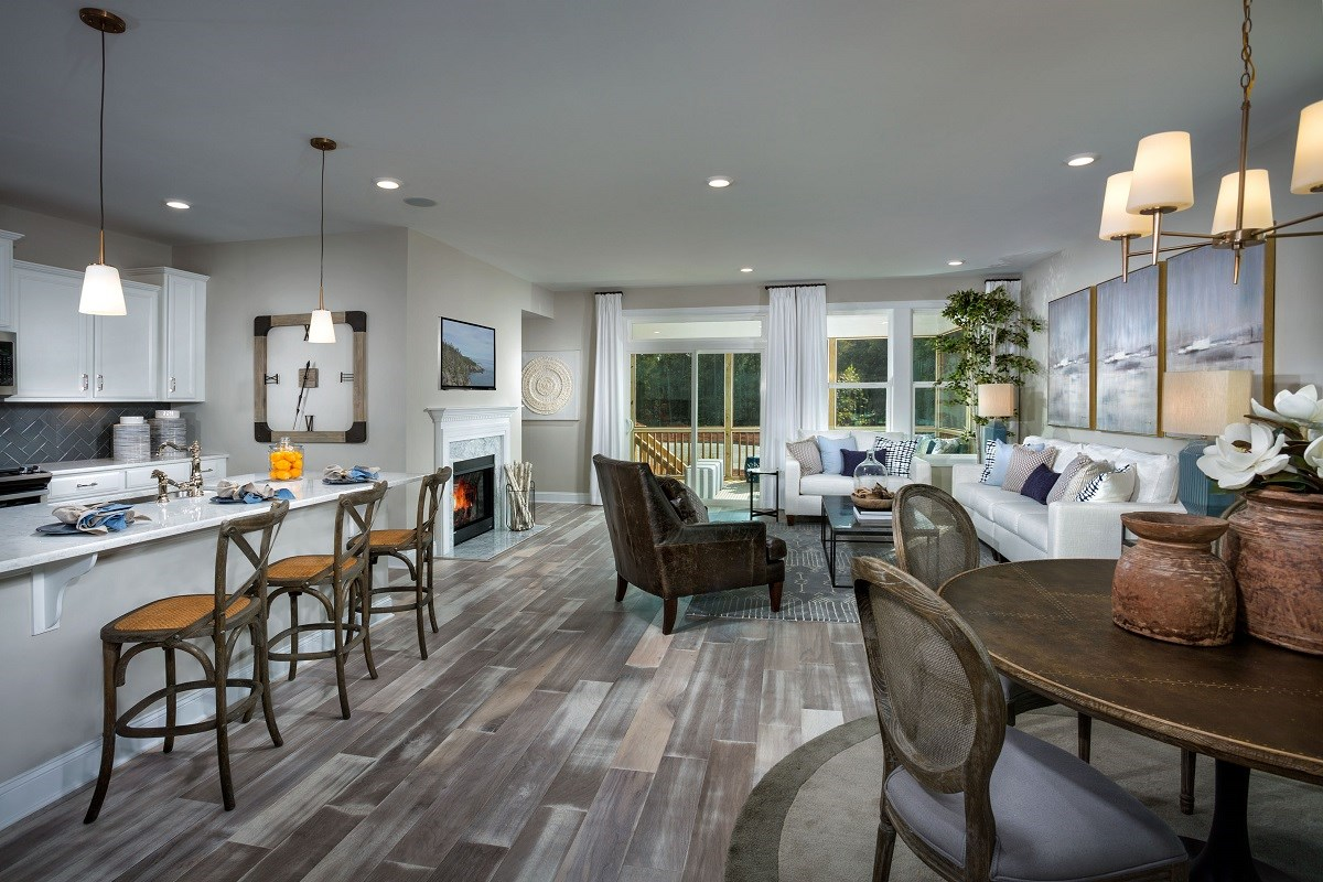 New Homes in Cary, NC - Wynwood South The Jordan II Dining and Kitchen